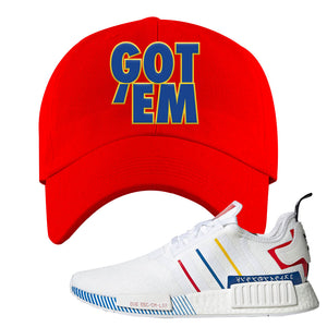 NMD R1 Olympic Pack Dad Hat | Red, Got em