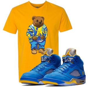This yellow t-shirt will match great with your Jordan 5 Alternate Laney JSP shoes