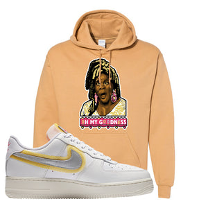 Air Force 1 Low 07 LX White Gold Hoodie | Oh My Goodness, Old Gold
