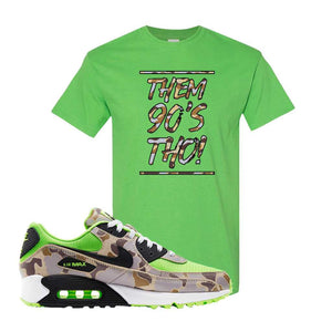 Air Max 90 Duck Camo Ghost Green T Shirt | Electric Green, Them 90's Tho