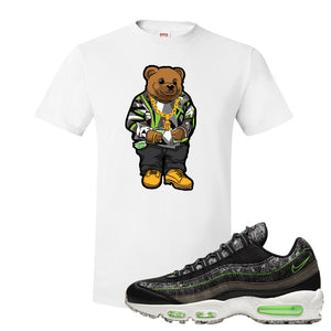 Air Max 95 Black / Electric Green T Shirt | Sweater Bear, White