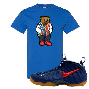 Air Foamposite Pro USA T Shirt | Royal Blue, Sweater Bear
