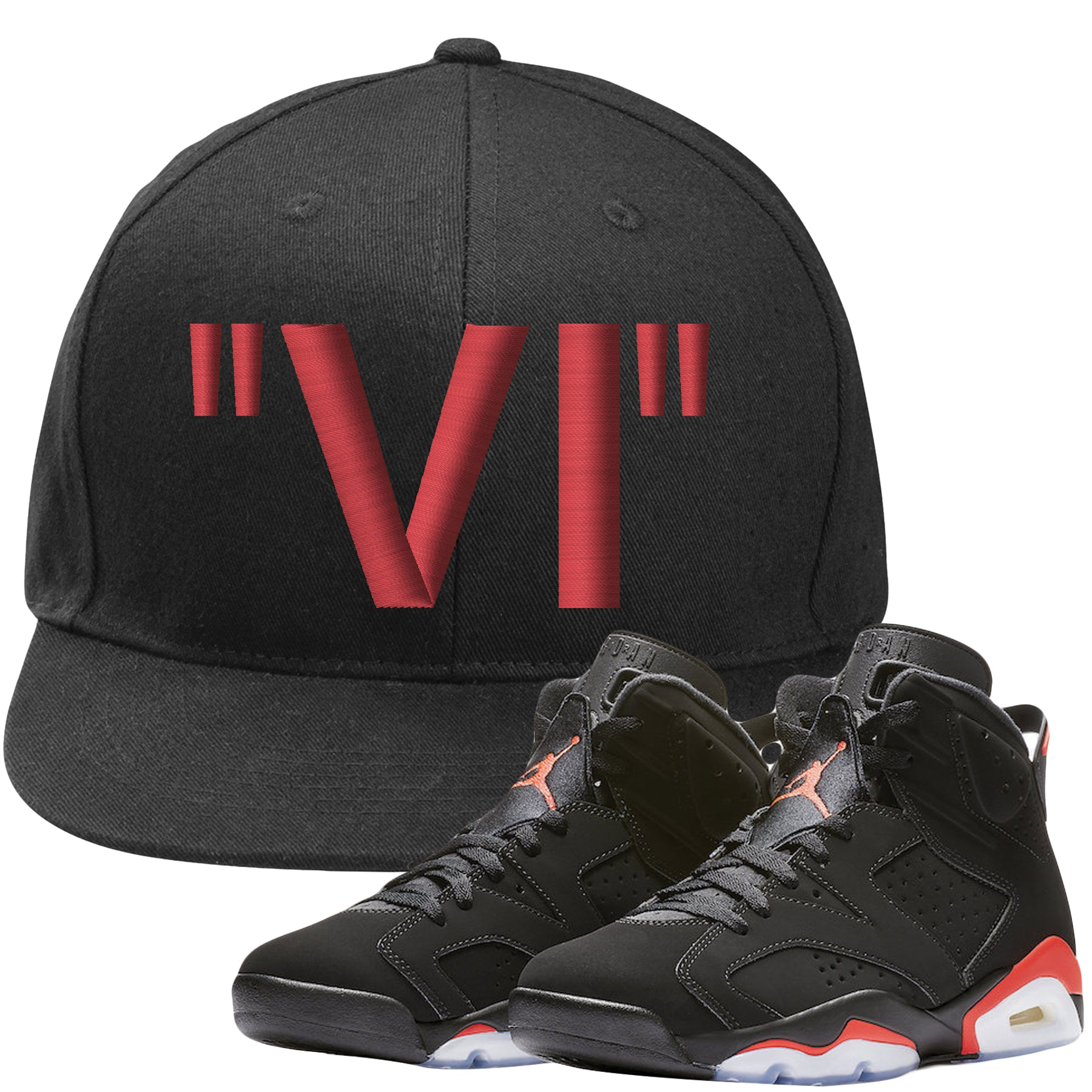 608e87871a1c3e The Jordan 6 Infrared Snapback Hat is custom designed to perfectly match  the retro Jordan 6
