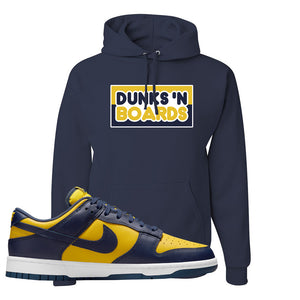 SB Dunk Low Michigan Hoodie | Dunks N Boards, Navy Blue