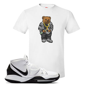 Kyrie 6 Oreo T Shirt | White, Sweater Bear