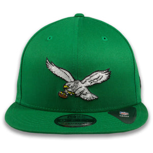 Philadelphia Eagles Throwback Logo Kelly Green New Era 9Fifty Snapback Hat