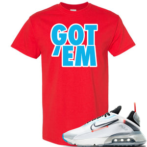 Air Max 2090 Pure Platinum T Shirt | Got Em, Red