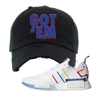 NMD R1 Olympic Pack Distressed Dad Hat | Black, Got Em