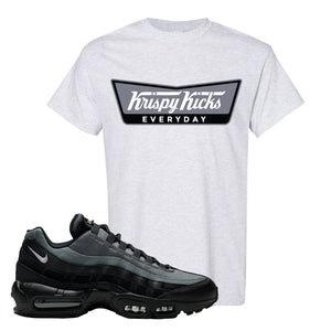 Air Max 95 Black Smoke Grey T Shirt | Krispy Kicks, Ash