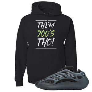 Yeezy Boost 700 V3 Alvah Sneaker Black Pullover Hoodie | Hoodie match Adidas Yeezy Boost 700 V3 Alvah Shoes | Them 700's Tho!