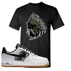 Air Force 1 Low Camo T Shirt | Indian Chief, Black
