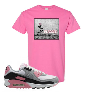 WMNS Air Max 90 Rose Pink Blessed Rose Azalea T-Shirt To Match Sneakers
