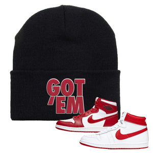 Jordan 1 New Beginnings Pack Sneaker Black Beanie | Beanie to match Nike Air Jordan 1 New Beginnings Pack Shoes | Got Em