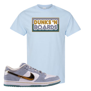 Sean Cliver x SB Dunk Low T Shirt | Dunks N Boards, Light Blue