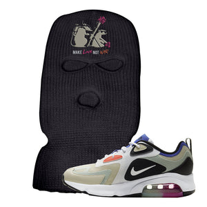 Air Max 200 WMNS Fossil Sneaker Black Ski Mask | Winter Mask to match Nike Air Max 200 WMNS Fossil Shoes | Army Rats