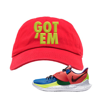 Kyrie Low 3 NY vs NY Dad Hat | Got Em, Red