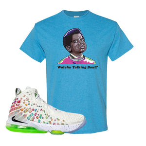 Lebron 17 Air Command Force T Shirt | Heather Sapphire, Watcha Talking Bout