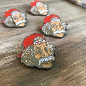 four cap swag albert einstein pins