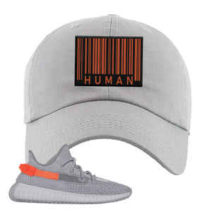 Yeezy Boost 350 V2 Tail Light Sneaker Light Gray Dad Hat | Hat to match Adidas Yeezy Boost 350 V2 Tail Light Shoes | Legit Barcode