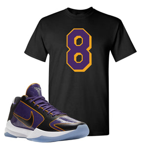 Kobe 5 Protro 5x Champ T Shirt | Number 8, Black