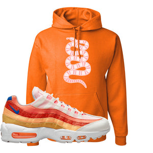 Air Max 95 Orange Snakeskin Hoodie | Coiled Snake, Orange