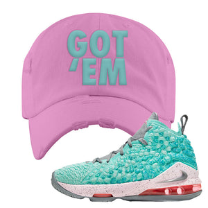 LeBron 17 'South Beach' DIstressed Dad Hat | Pink, Got Em