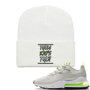 Air Max 270 React Ghost Green Sneaker White Dad Hat | Hat to match Nike Air Max 270 React Ghost Green Shoes | Them 270 Tho