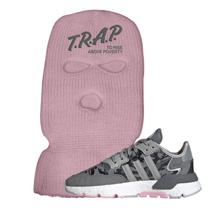 WMNS Nite Jogger True Pink Camo Ski Mask | Light Pink, Trap to Rise Above Poverty