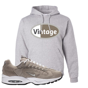 Air Max Triax 96 Grey Suede Hoodie | Vintage Oval, Ash
