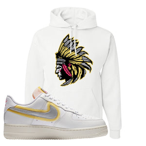 Air Force 1 Low 07 LX White Gold Hoodie | Indian Chief, White