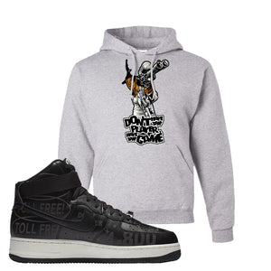 Air Force 1 High Hotline Hoodie | Don't Hate The Playa, Ash