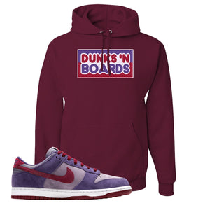 Dunk Low Plum Sneaker Maroon Pullover Hoodie | Hoodie to match Nike Dunk Low Plum Shoes | Honey Berry