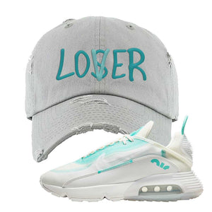 Air Max 2090 Pristine Green Distressed Dad Hat | Light Gray, Lover