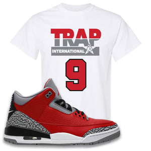 Jordan 3 Red Cement T-Shirt | White, Trap International