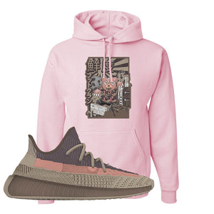 Yeezy 350 v2 Ash Stone Hoodie | Attack Of The Bear, Light Pink