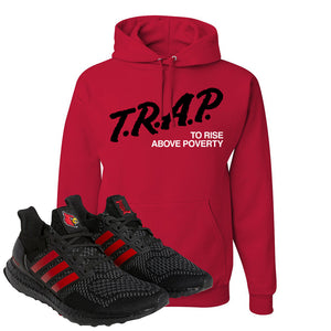 Ultra Boost 1.0 Louisville Hoodie | Trap To Rise Above Poverty, Red