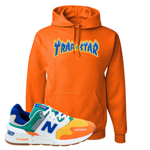 997S Multicolor Sneaker Safety Orange Pullover Hoodies | Hoodies to match New Balance 997S Multicolor Shoes | Trap Star
