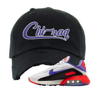 Air Max 2090 Evolution Of Icons Distressed Dad Hat | Chiraq, Black