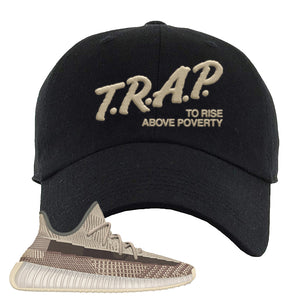 Yeezy 350 v2 Zyon Dad Hat | Black, Trap To Rise Above Poverty