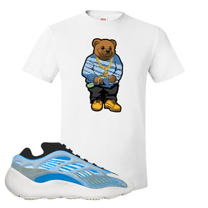 Yeezy 700 v3 Azareth T Shirt | White, Sweater Bear