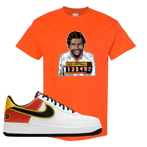 Air Force 1 Low Roswell Rayguns T Shirt | Escobar Illustration, Orange