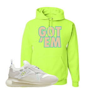 Air Max 720 OBJ Slip White Hoodie | Safety Green, Got Em