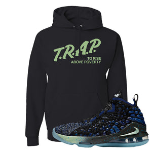 LeBron 17 Constellations Hoodie | Trap To Rise Above Poverty, Black