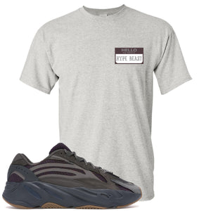 Yeezy Boost 700 Geode Sneaker Hook Up Hello My Name Is Hype Beast Pablo Sports Gray T-Shirt