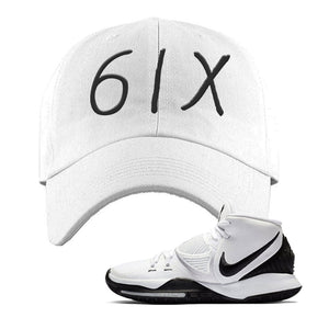 Kyrie 6 Oreo Dad Hat | White, 6ix
