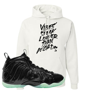 Foamposite One 2021 All Star Hoodie | Vibes Speak Louder Than Words, White