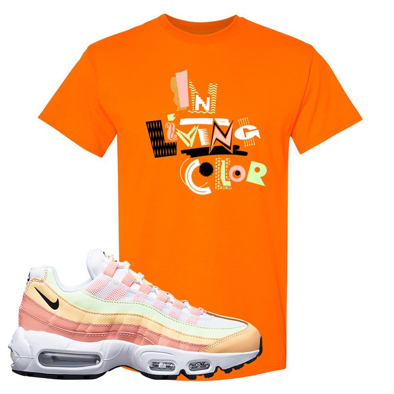Air Max 95 WMNS Melon Tint T Shirt | Safety Orange, In Living Color