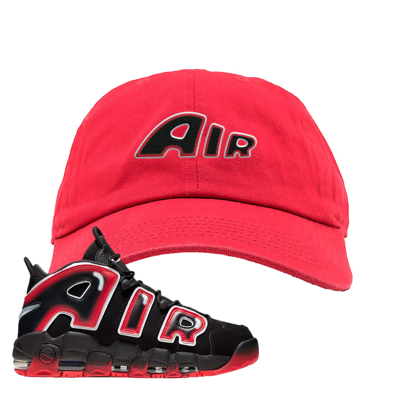 Air More Uptempo Laser Crimson Dad Hat | Red, Air From The Sneaker