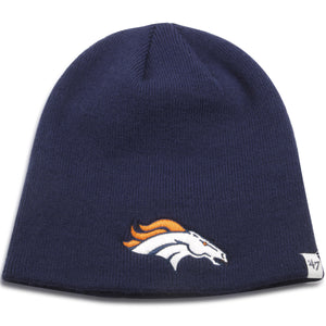 Denver Broncos Navy Blue Knit Skully Winter Beanie