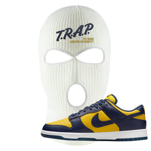 SB Dunk Low Michigan Ski Mask | Trap To Rise Above Poverty, White
